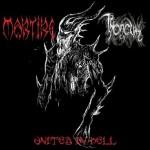 MARTIRE / THRONEUM  United In Hell, Split CD 1