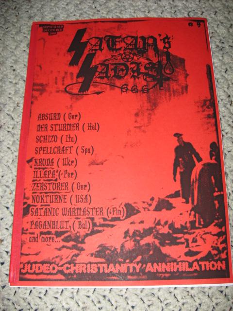 Deathrune Satan S Sadist Issue 4 Zine