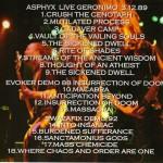 Asphyx (2)  Evoker (2)  Swazafix – Holland Death Cult 4