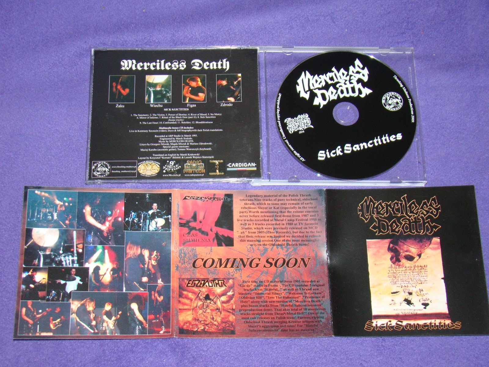 MERCILESS DEATH - Sick Sanctities CD