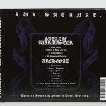 SATANIC WARMASTER  ARCHGOAT – Lux Satanae CD3